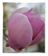 Joyful Pink Magnolia Fleece Blanket