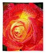 Joyful Rose Fleece Blanket