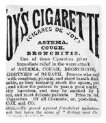 Joys Cigarettes, 1884 Fleece Blanket