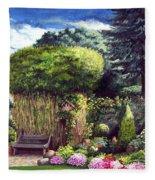 Joy's Garden Fleece Blanket