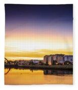 Jubia River Naron Galicia Spain Fleece Blanket