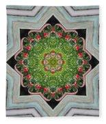 Jubilant Mandevilla Kaleidoscope Pattern Fleece Blanket