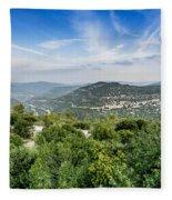 Judean Foothills Landscape Fleece Blanket