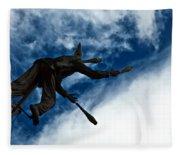 Juggling Statue Fleece Blanket