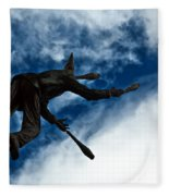 Juggling Statue Fleece Blanket