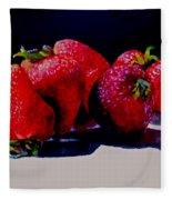 Juicy Strawberries Fleece Blanket