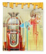 Juke Box Fleece Blanket