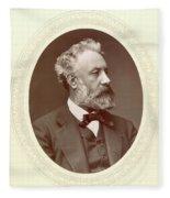 Jules Verne (1828-1905) Fleece Blanket
