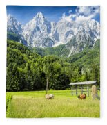 Julian Alps Farm Fleece Blanket