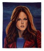 Julianne Moore Fleece Blanket