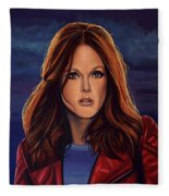 Julianne Moore Fleece Blanket