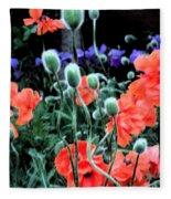 Julia's Garden II Fleece Blanket