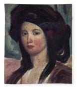 Juliette Drouet (1806-1883) Fleece Blanket