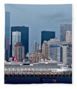 July 7 2014 - Carnival Splendor At New York City - Image 1674-01 Fleece Blanket