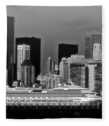 July 7 2014 - Carnival Splendor At New York City - Image 1674-02 Fleece Blanket