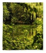 July Tranquil Indian Lake Fleece Blanket