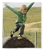 Jumping Haystacks Fleece Blanket