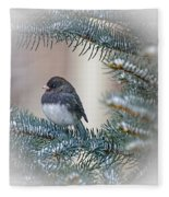 Junco In Pine Fleece Blanket