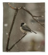 Junco In The Snow Fleece Blanket