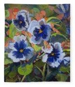 June In The Garden Fleece Blanket