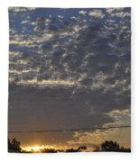 June Sunrise From The Series The Imprint Of Man In Nature Fleece Blanket