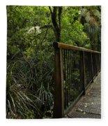 Jungle Bridge Fleece Blanket