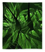 Jungle Clearing  Fleece Blanket