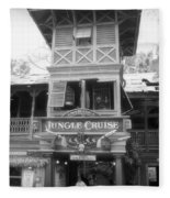 Jungle Cruise Adventureland Disneyland Bw Fleece Blanket