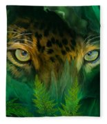 Jungle Eyes - Jaguar Fleece Blanket
