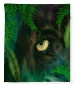 Jungle Eyes - Panther Fleece Blanket