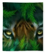 Jungle Eyes - Tiger Fleece Blanket