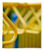 Jungle Gym At Playground Shallow Dof Fleece Blanket