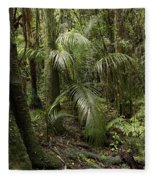 Jungle Leaves Fleece Blanket