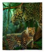 Jungle Spirit - Leopard Fleece Blanket