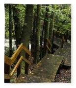 Jungle Walkway Fleece Blanket