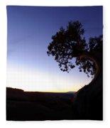 Juniper Tree At Dawn Fleece Blanket