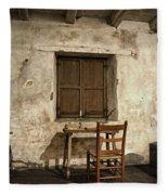 Junipero Serra Cell In Carmel Mission Fleece Blanket