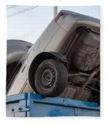 Junk Cars In Dumpster Cash For Clunkers Fleece Blanket