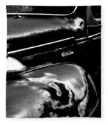 Junkyard Series Old Plymouth Black And White Fleece Blanket