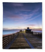 Juno Beach Pier Fleece Blanket