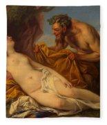 Jupiter And Antiope Fleece Blanket