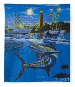 Jupiter Boat Parade Fleece Blanket