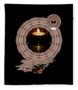 Just A Candle In The Wind Fleece Blanket