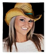 Just A Country Girl Fleece Blanket