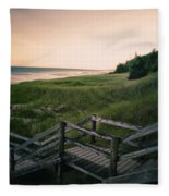 Just A Few More Steps To The Lake Fleece Blanket
