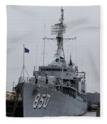 Just Another Battleship Photo Of The Uss Joseph P Kennedy Jr  Fleece Blanket