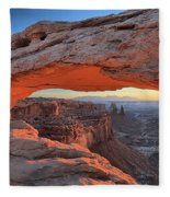 Just Before Sunrise At Canyonlands Fleece Blanket