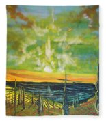 Just Beyond The Sea Fleece Blanket