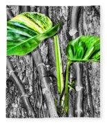 Just Green 2 By Diana Sainz Fleece Blanket