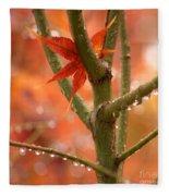 Just One Leaf Fleece Blanket